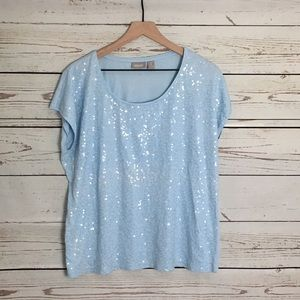 Chico's Tops - Short Sleeve Baby Blue Chicos T